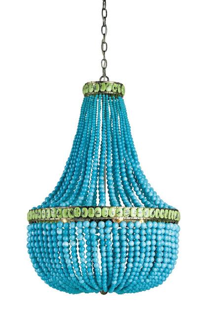 Hedy Turquoise Beaded Luxury Chandelier