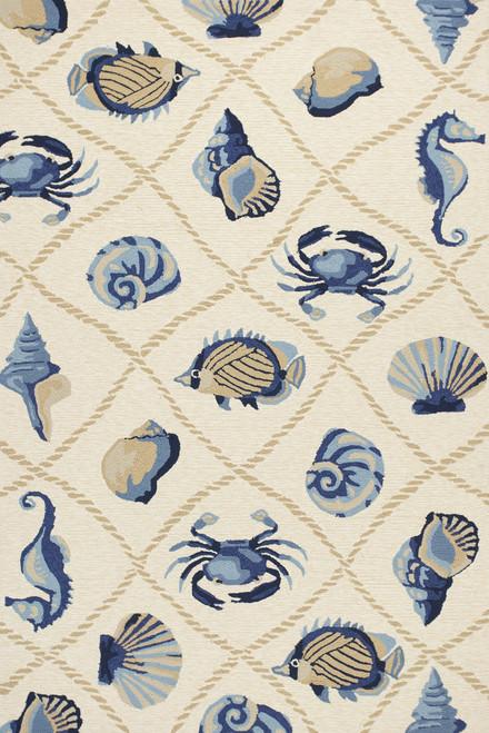 Harbor Seaside Ivory Indoor-Outdoor Rug