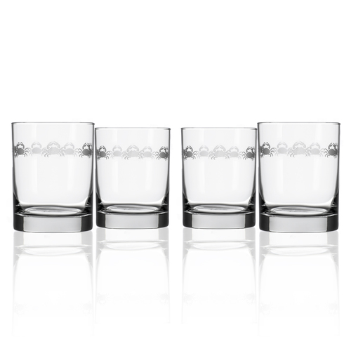 Cast of Crabs Etched DOF Glasses - Set of 4