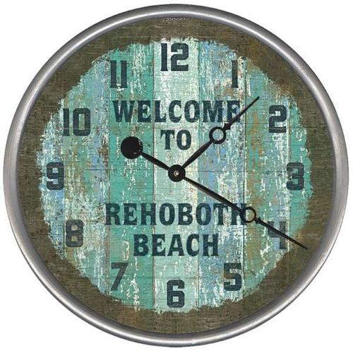 Aqua and Blue Beach Cottage Clock - Custom