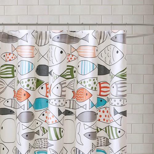 Sardinia Fishes Shower Curtain 2