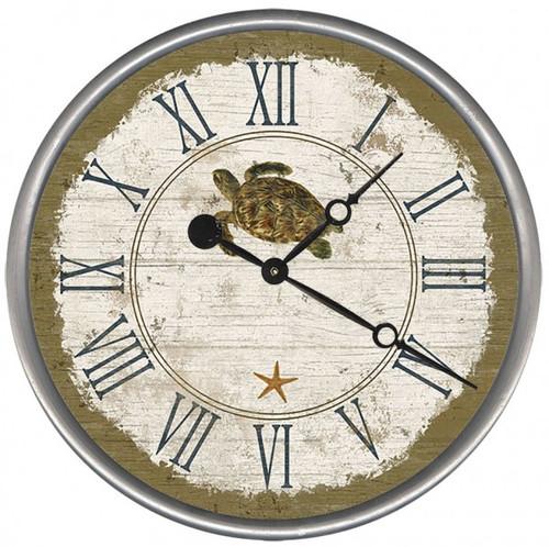 Beach Cottage Sea Turtle Clock - Custom
