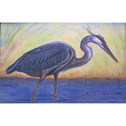 Great Blue Heron Floor Mat