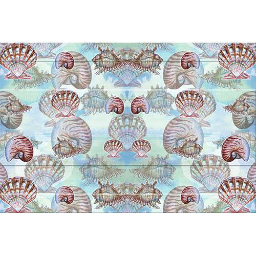 Colorful Tropical Shells Floor Mat