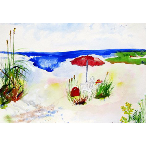 Red Beach Umbrella Floor Mat