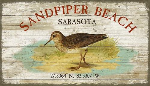 Sandpiper Beach Art Sign- Custom