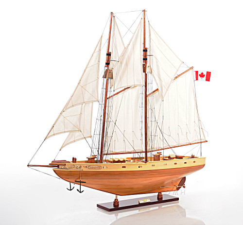 Blue Nose II Sailboat Model - Fully Assembled view 2