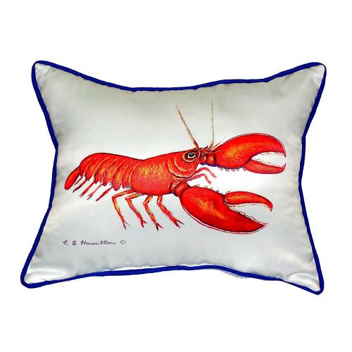 Scarlet Lobster Pillow