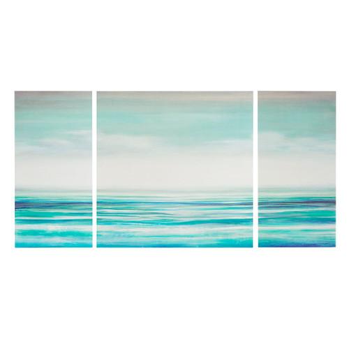 Teal Tides Gel Coat Canvas - 3 part Wall Decor