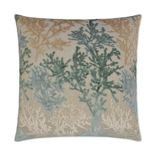 Barbados Velvet Coral Branch Pillow - Laguna