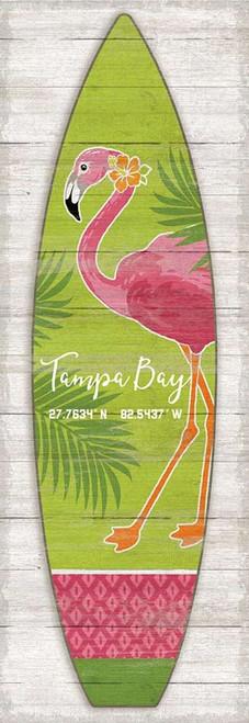 Pink Flamingo Surfboard Custom Art