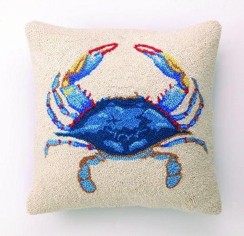 Blue Crab Hook Pillow