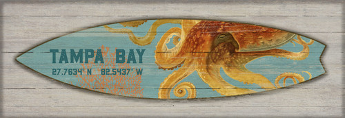 Octopus Surfboard Custom Art