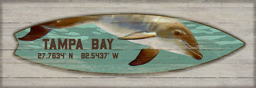 Dolphin Surfboard Custom Art