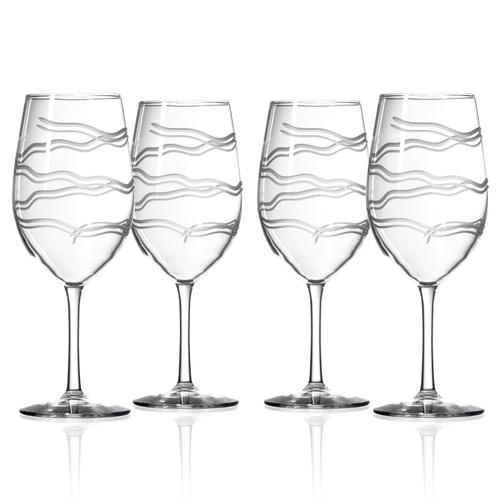 Good Vibrations Wine Glasses-Set of 4