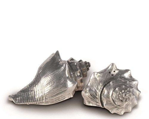 Pewter Conch Shells Salt and Pepper Set