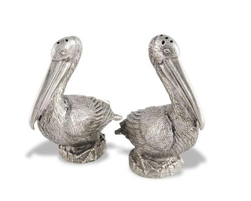 Pewter Pelicans Salt and Pepper Set