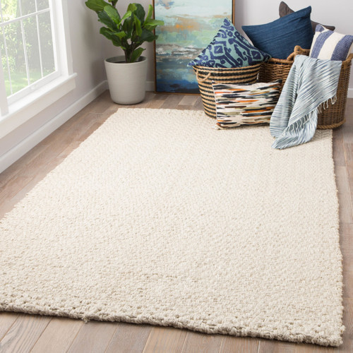 Tracie Natural White Jute Rug room view