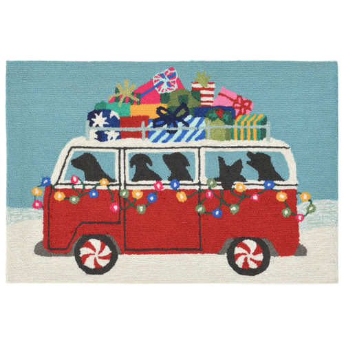 VW Puppy Dogs Holiday Shopping Rug