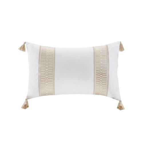 Saltwater and Dunes Tasseled Decorative Pillow