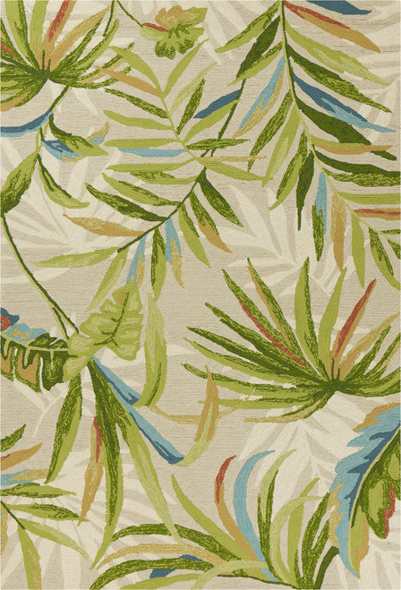 Sand and Palms Playa Tropical Indoor-Outdoor Rug