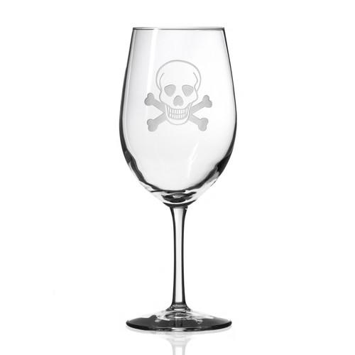 Skull and Cross Bones Large Wine Goblets - Single image