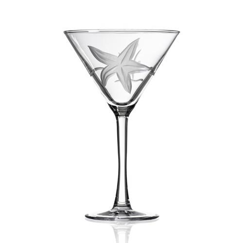 Starfish Etched Martini Glasses single image