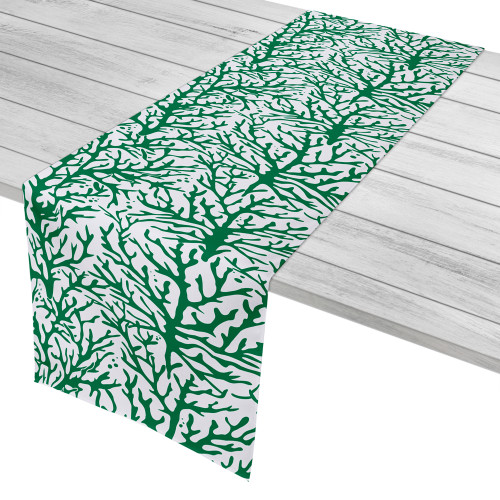 Coral Green Table Runner