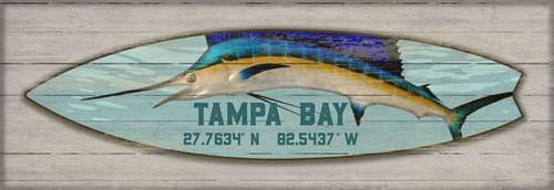 Blue Marlin Latitude Surfboard Custom Art