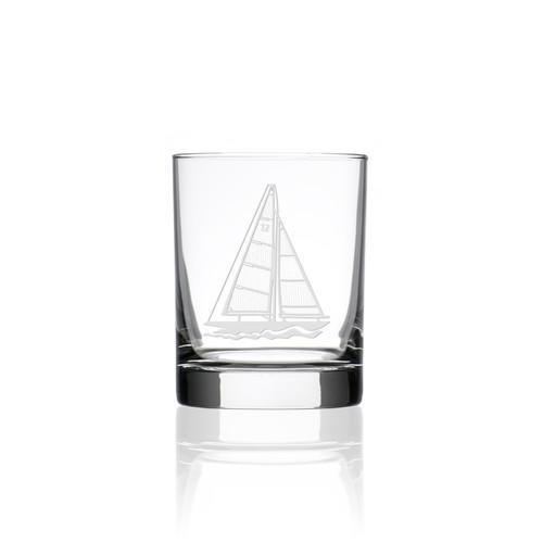 Sailboat Double Old Fashioned Glasses - Single image