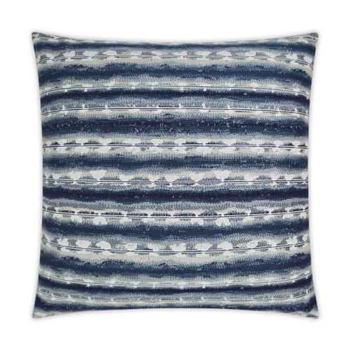 Sunshibo Navy and White Stripe Pillow