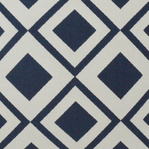 Savvy Navy 22 x 22  Indoor-Outdoor Lux Pillow fabric close up