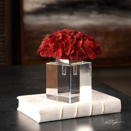 Red Coral Cluster Sculpture room scene
