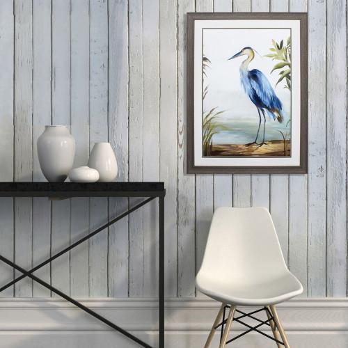 Shore Blue Heron Framed Art room example