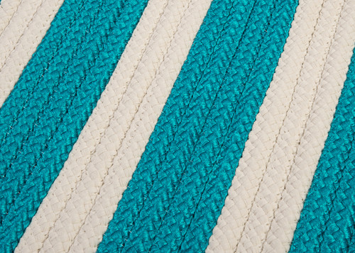 Turquoise Stripe It Rug close up