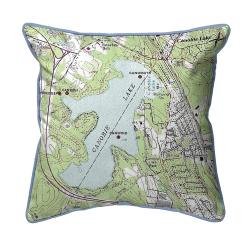 Canobie Lake, New Hampshire Nautical Map 22 x 22 Pillow