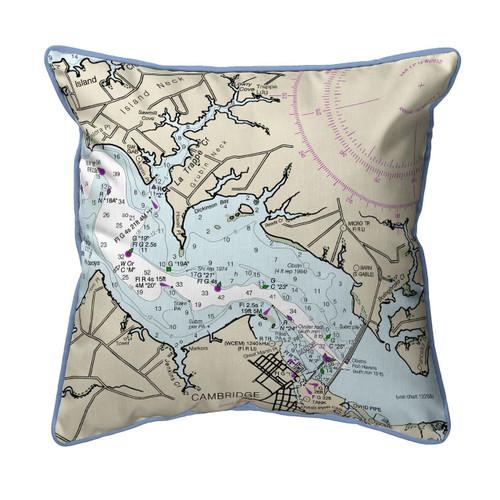 Cambridge, MD Nautical Map 22 x 22 Zippered Pillow