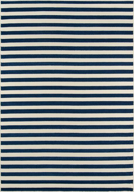 Navy Stripe Baja Area Rug