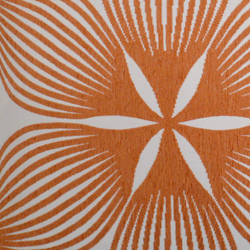Sunglow Tangerine Lux 22 x 22 Pillow fabric close up