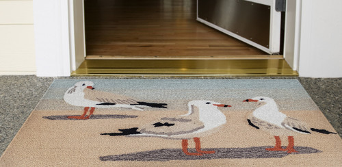 Gathering of Seagulls Rug room view