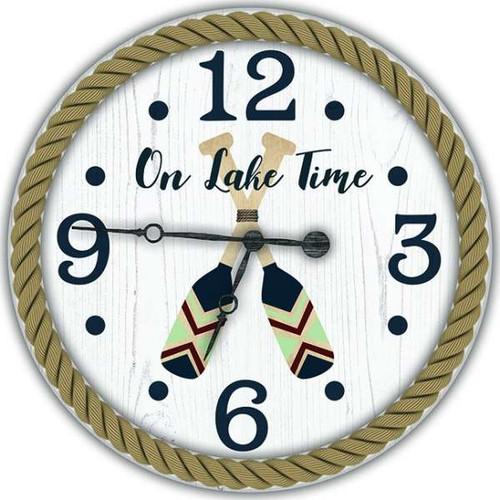 Painted Oars Custom Wall Clock
