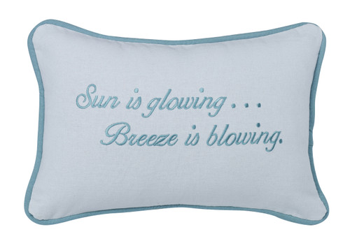 Embroidered Sun is Glowing Pillow
