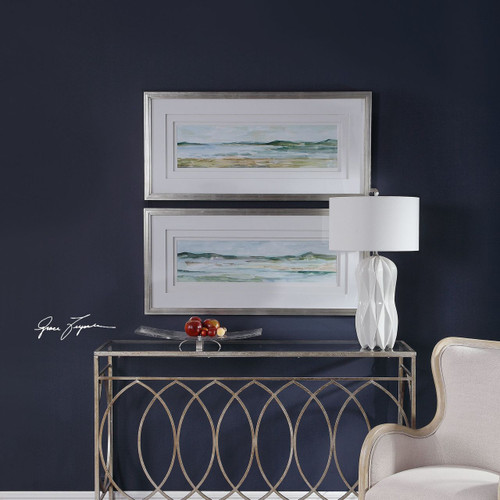Panoramic Seascape Framed Print- Set of 2 room view