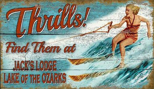 Thrills at the Lake Custom Art Sign