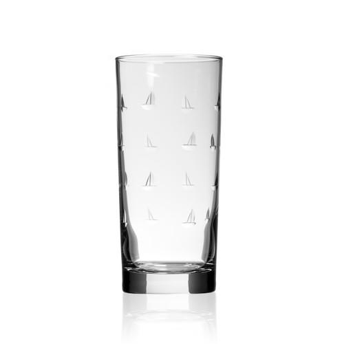 Sailing Etched Cooler Glasses - Set of 4 indivdual image