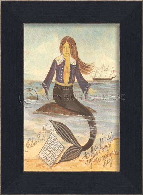 Playing Games on Wednesday Small Mermaid Art