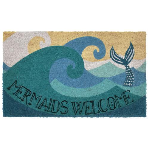 24 x 36 Mermaids Welcome Natura Coir Door Mat