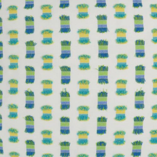 Fifi Green Indoor-Outdoor Pillow fabric close up