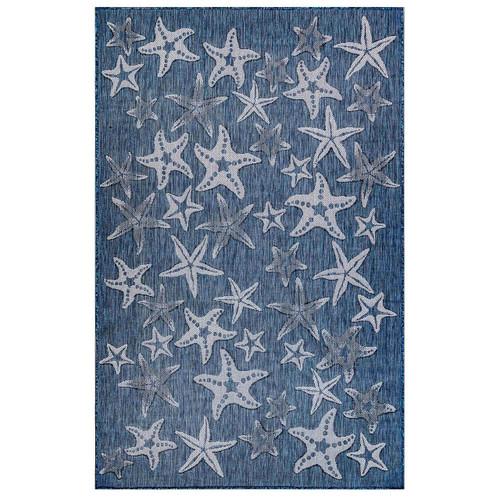 Blue Carmel Starfish Rug main image