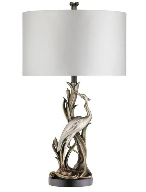 99813 - Sculpted Marsh Heron Table Lamp